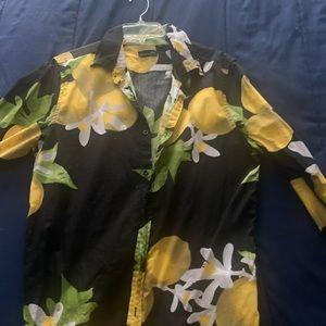 Other - Process black lemon print shirt.